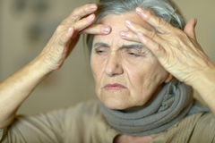 Sick elderly woman Royalty Free Stock Photos