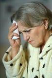 Sick elderly woman Royalty Free Stock Photography