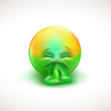 Sick emoticon with tongue out - vector illustration Royalty Free Stock Photos