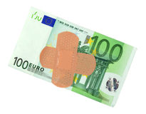 Sick Euro money Royalty Free Stock Photo