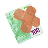 Sick Euro money Stock Image