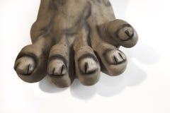 Sick feet. With deseases stock photos