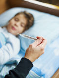 Sick girl Stock Images