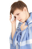 Sick girl with flu Stock Photography