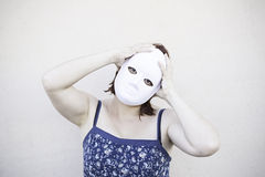 Sick girl mask Royalty Free Stock Photos