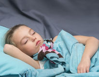 Sick girl is sleeping Royalty Free Stock Photo