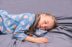 Sick girl is sleeping Stock Photography