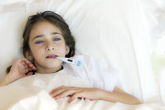 Sick girl Stock Photography
