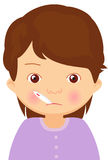 Sick girl with thermometer Royalty Free Stock Photo
