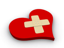 Sick heart Royalty Free Stock Images