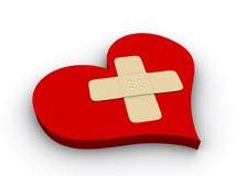 Sick heart stock illustration