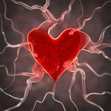 Sick heart background Royalty Free Stock Image