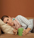 Sick at home Royalty Free Stock Photo