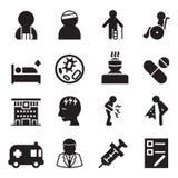 Sick & injury icons set  illustration Royalty Free Stock Photo
