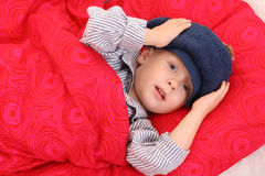 Sick kid Stock Images