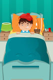 Sick kid resting Stock Image