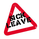 Sick Leave rubber stamp Royalty Free Stock Image