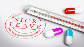 Sick Leave Stock Images