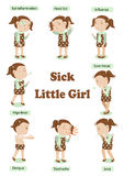 Sick little girl Stock Images