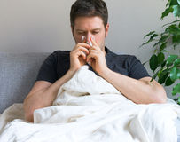 Sick man. Stock Photo