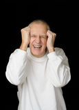 Sick Man with headache Royalty Free Stock Images