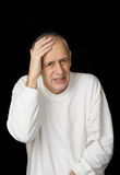 Sick Man with heavy headache Royalty Free Stock Images