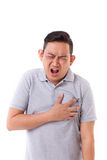 Sick man suffering from heart attack Royalty Free Stock Photo