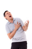 Sick man suffering from heart attack Stock Photography