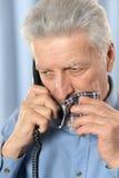 Sick old man Royalty Free Stock Photos