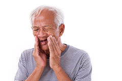 Sick old man, toothache Royalty Free Stock Photo