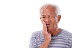 Sick old man, toothache Stock Image