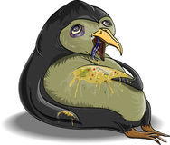 Sick penguin. Penguin, which is glutted himself and became ill Royalty Free Stock Photography