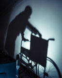 Sick people and wheelchair Royalty Free Stock Photos