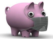 A sick pig Stock Photo