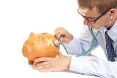 Sick piggy bank Royalty Free Stock Photography
