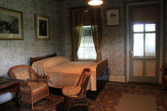 Sick room, where President Ulysses S Grant drew his last breath, Grant's Cottage, Saratoga, New York, 2014 Royalty Free Stock Images