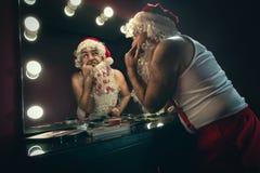 Sick Santa Claus stock image