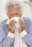 Sick senior man portrait Royalty Free Stock Photos
