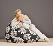 Sick senior woman Royalty Free Stock Photo