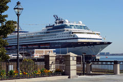 Sick Ship. Celebrity Mercury Cruise  Ship  docked in Charleston SC, after recent outbreak of the norovirus. More than 400 passengers and crew fell ill during a Stock Photos