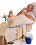 Sick and Taking Meds Stock Photography