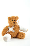 Sick teddy Royalty Free Stock Image