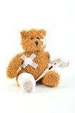 Sick teddy Royalty Free Stock Images