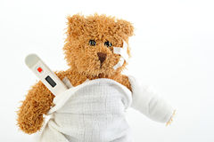 Sick teddy Stock Image
