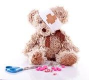 Sick Teddy royalty free stock photo