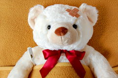 Sick teddy Royalty Free Stock Image