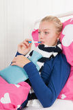 Sick teenager girl Royalty Free Stock Photo