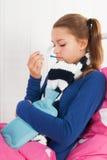 Sick teenager girl Stock Image