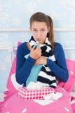 Sick teenager girl Stock Photo