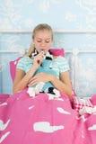 Sick teenager girl Royalty Free Stock Image